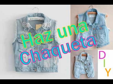 DIY- Haz tu propia chaqueta de jean!!! - YouTube 3493632a8fc8