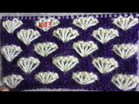 Easy Two Color Knitting Pattern No.43|Hindi - YouTube