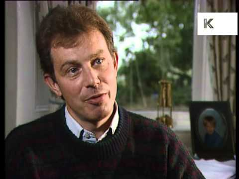Early 1990s Tony Blair in Sedgefield and Rare Interview