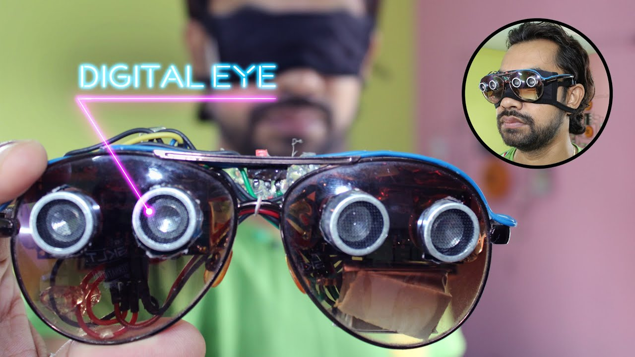 how to make artificial digital eyes for blind people
