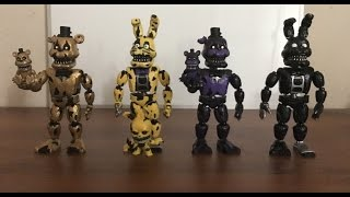 drgs fnaf custom figures 6  nightmare goldenspring and nightmare shadow animatronics
