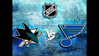 NHL19 Play-Off 1/2 Stanley Cup San Jose Sharks  -  St.Louis Blues Game#1