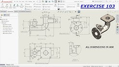 SolidWorks Drawing Tutorial for Beginners exercise 103