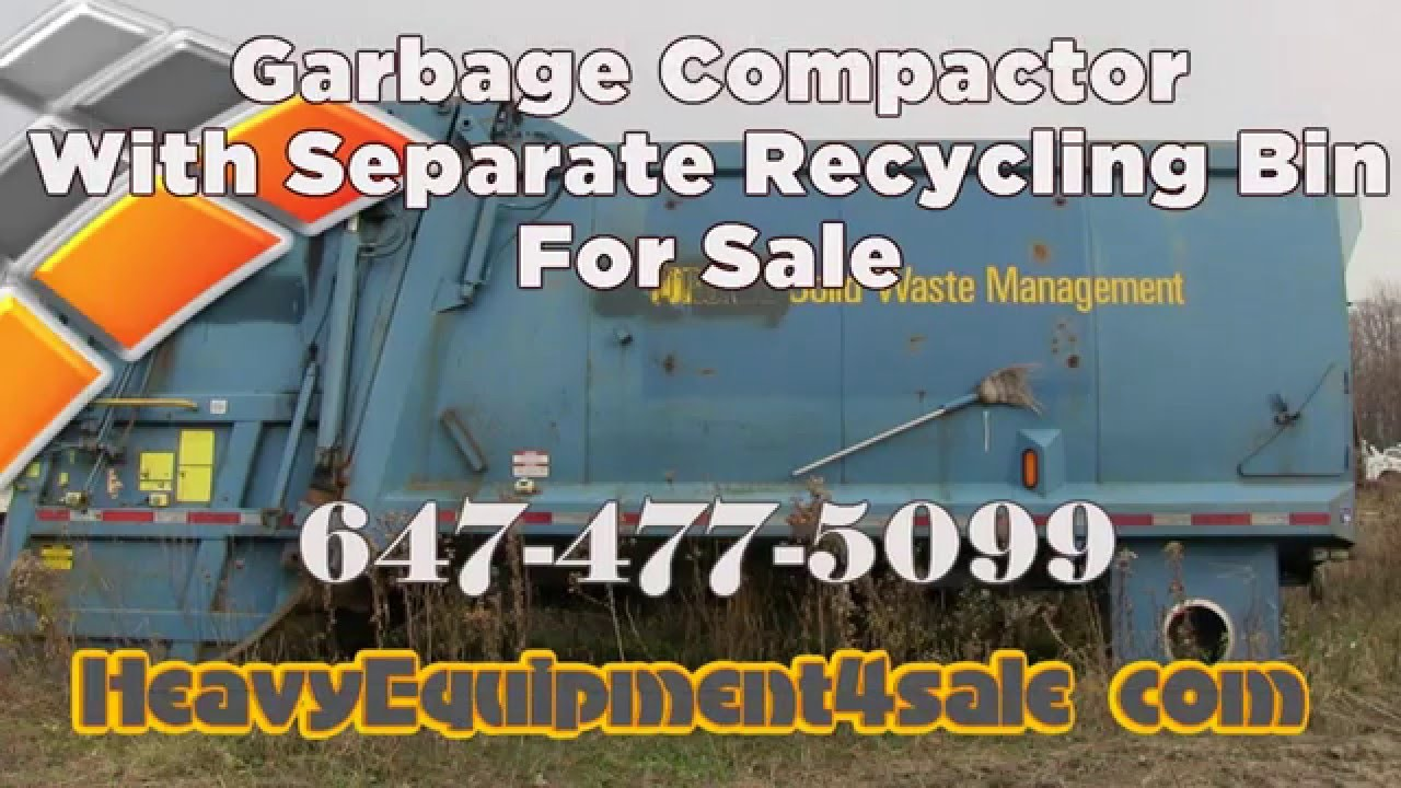 Garbage Compactor with separate recycling unit for sale Toronto ...