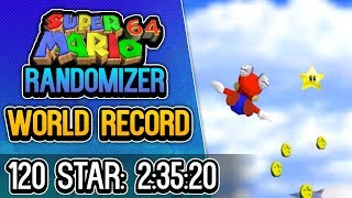 Super Mario 64 Randomizer 120 Star Speedrun in 2:35:20 WORLD RECORD