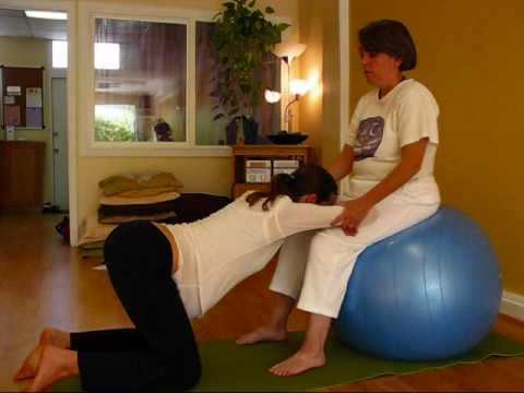 Yoga Ball positions for pregnancy and labor with birth partner