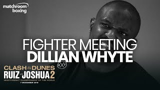 Exclusive Fighter Meeting: Dillian Whyte on Wach, Ruiz vs Joshua 2 & more!