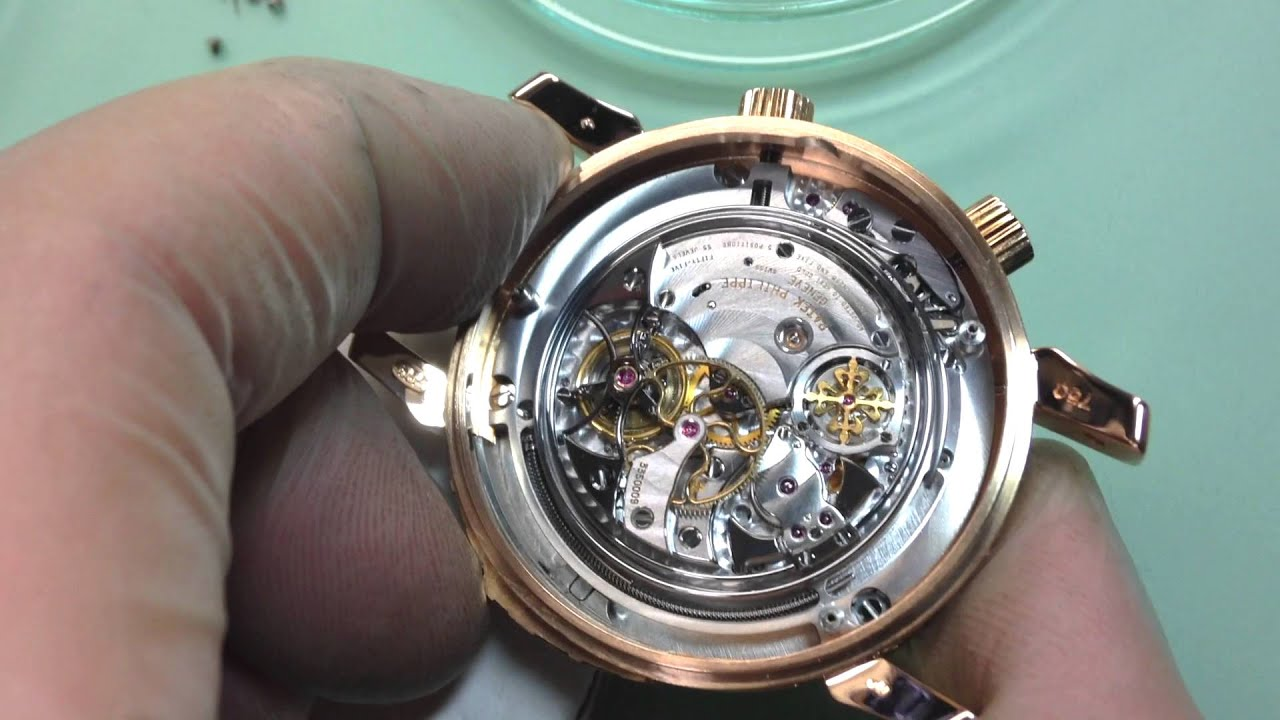 Dismantling a rare patek philippe sky moon tourbillon youtube for Patek philippe tourbillon