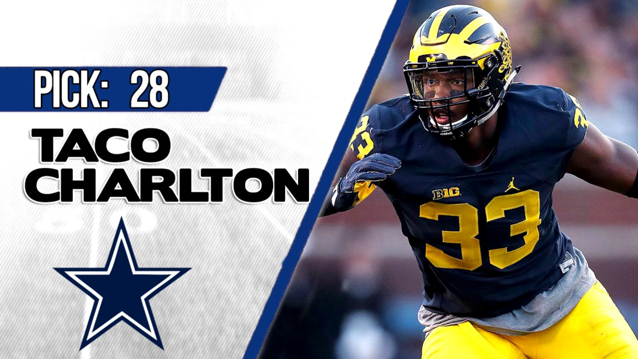 Cowboys Select Taco Charlton in 2017 NFL Draft, Twitter Can't Control Itself