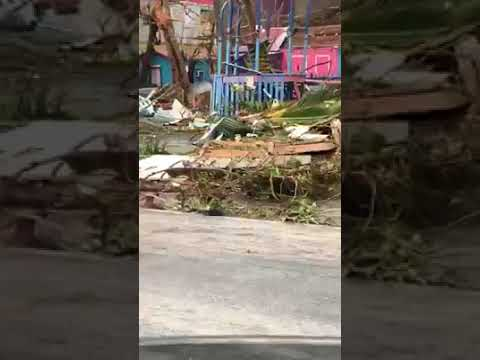 PUSSERS bcqs gone - BVI Hurricane Irma Devastation - Road Town, Tortola, BVI