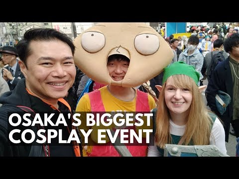 Osaka's Biggest Cosplay Event Nippombashi Street Festa 2018 | Japan Vlog 41 | Lin Nyunt