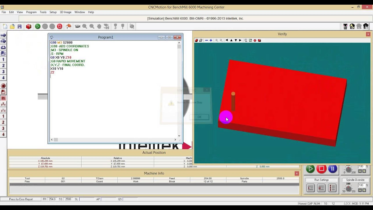 Tutorial for CNC Milling using CNCMotion Simulation Software