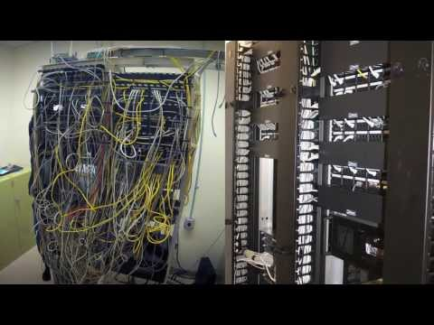 Data Network Cabling Rewire Time Lapse