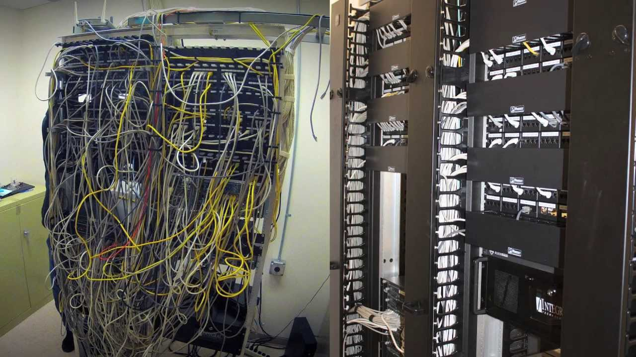 data network cabling rewire time lapse youtube rh youtube com Structured Wiring Closet Wiring Closet Diagram