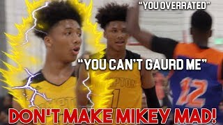 Mikey Williams VS Trash Talking Defender GETS UGLY! Mikey TOYING w/TRASH TALKERS