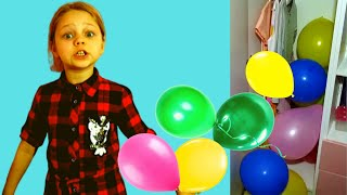 Нашла дома разноцветные шарики Алиса.  Лисенок Алисенок