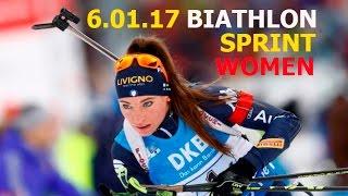 BIATHLON WOMEN SPRINT 6.01.2017  World Cup 4 Oberhof (Germany)