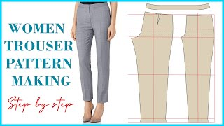 Basic Pant Pattern Drafting For Beginners How To Make Women s Trouser Pattern Detailed