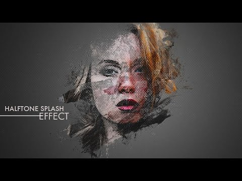 Halftone Splash Effect - Photoshop Tutorial Smoke Effect - Photoshop cc 2018 Tutorial #GSFXMentor thumbnail