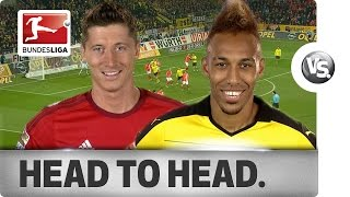 lewandowski vs aubameyang goal getters go head to head