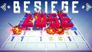 Besiege - Minesweeper Rage, Tropical Island & A Huge Flying Vanilla Galleon - Besiege Best Creations