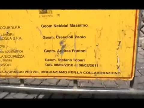 Cantiere Publiacqua in via Panzani: il cartello c'entra poco