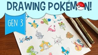 Drawing Pokémon Gen 3 With Copic Markers