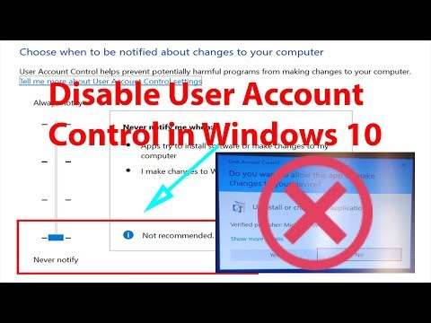 How to Disable or Turn Off User Account Control (UAC) in Windows 10?