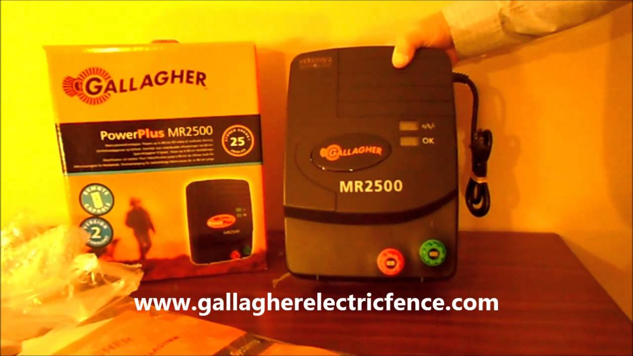 Gallagher Mr2500 Electric Fence Charger Youtube Fencing Information