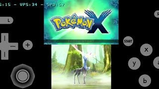 Pokemon X - citra 3DS emulator on android - Samsung Galaxy S10+ + download