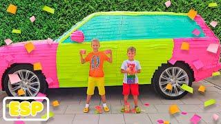 Vlad y Niki coche de color para mamá