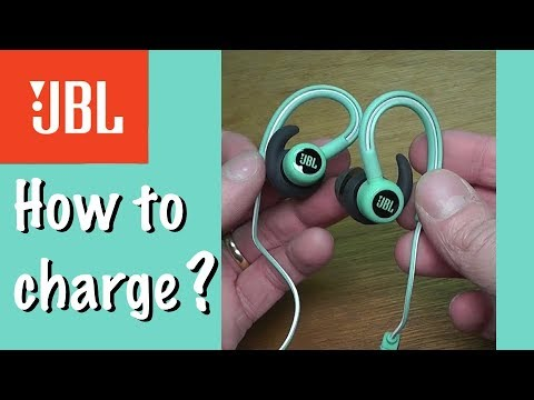 How to charge the battery of JBL Reflect Contour headphones - YouTube