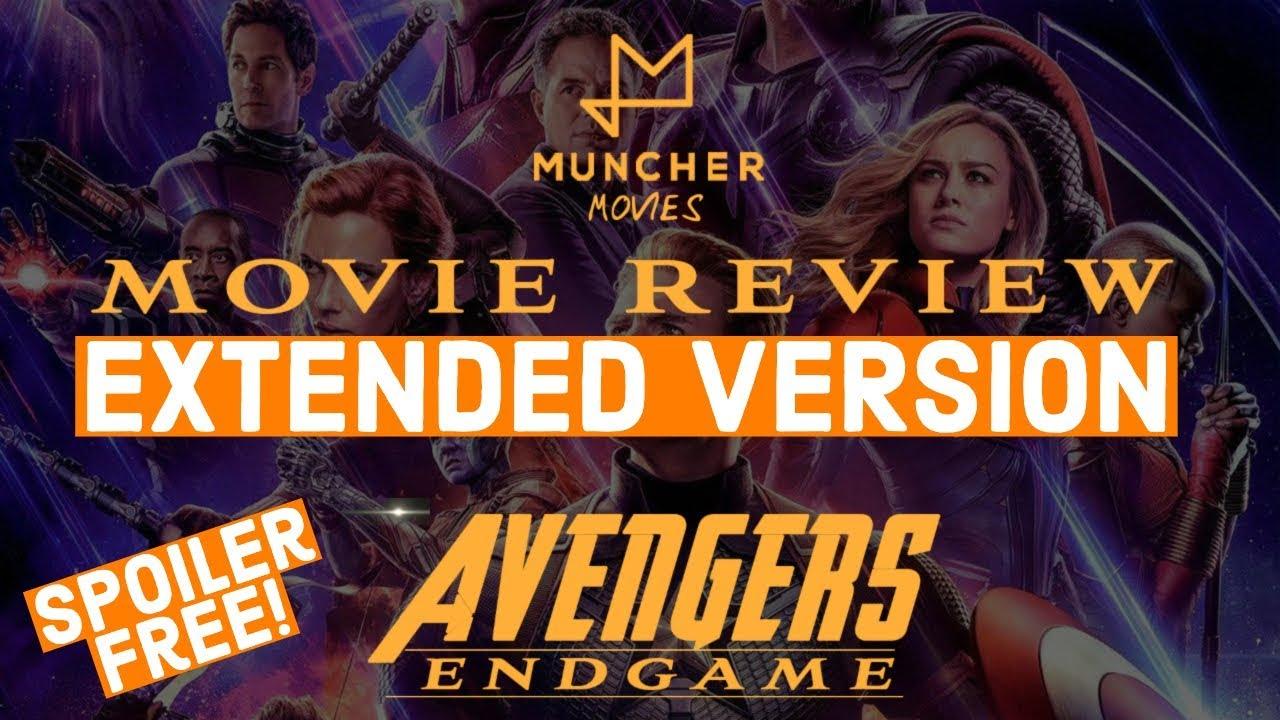 Avengers Endgame Extended Movie Review Spoiler Free Youtube