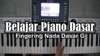 belajar piano dasar fingering nada dasar g