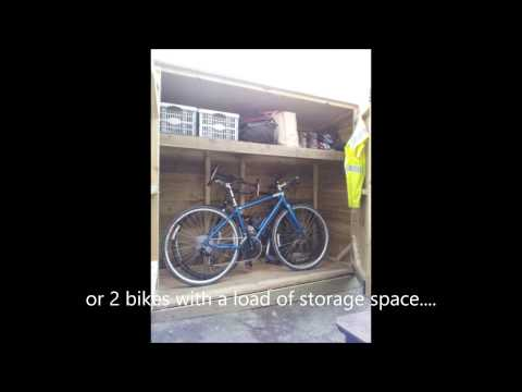 Secure bike shed by Sussex Garden Woodwork