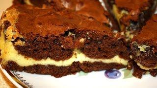 Шоколадный торт с нежной прослойкой. Простой и быстрый рецепт.