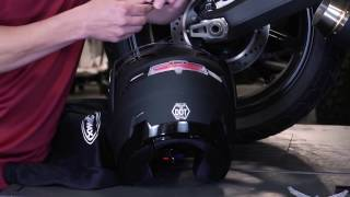 How To Install A Wireless LED Brake Light Into Your GMAX Helmet