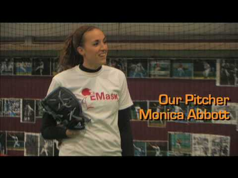 Monica Abbott Breaks Pineapple Off Batter