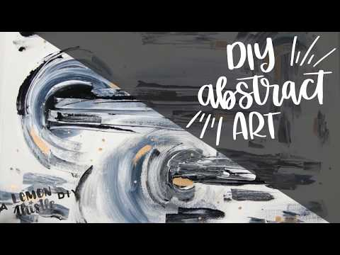DIY Abstract Painting on Canvas- Large Scale Art for beginners