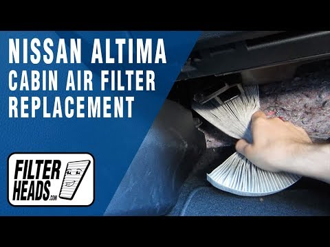 how to replace cabin air filter 2014 nissan altima -