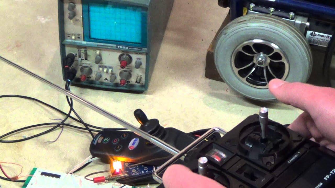 r c wheelchair controller test 1 youtube rh youtube com Jazzy Power Wheelchair Controller Power Wheelchair Controllers