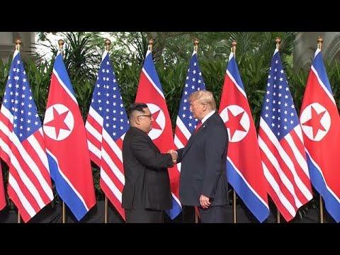 מפגש פסגה קים גונג און צפון קוריאה דונלד טראמפ ארה