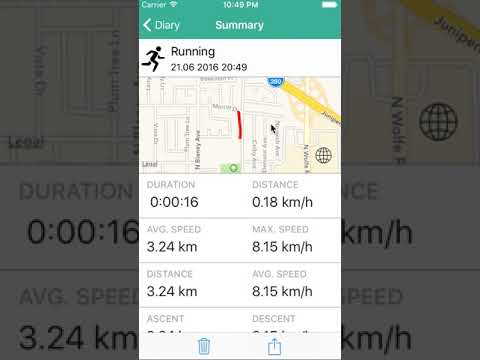 "RunLife ""Sport tracker"" applications for iOS Swift"