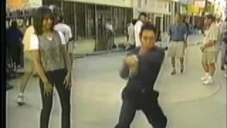Jet Li on set of Lethal Weapon 4