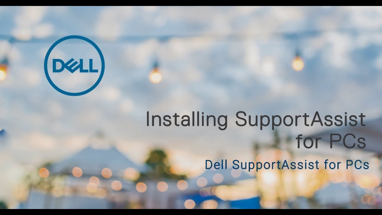 Installing SupportAssist for PCs