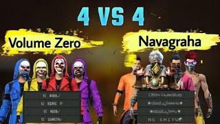 Free Fire🔥||  Clash squad 4vs4  friendly match ||  Volume Zero vs Navagraha ||