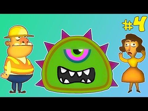 Лизун СЛИЗНЯК захватывает мир #4. Глазастик съел всех в городе. Серия 1. Игра Mutant Blobs Attack