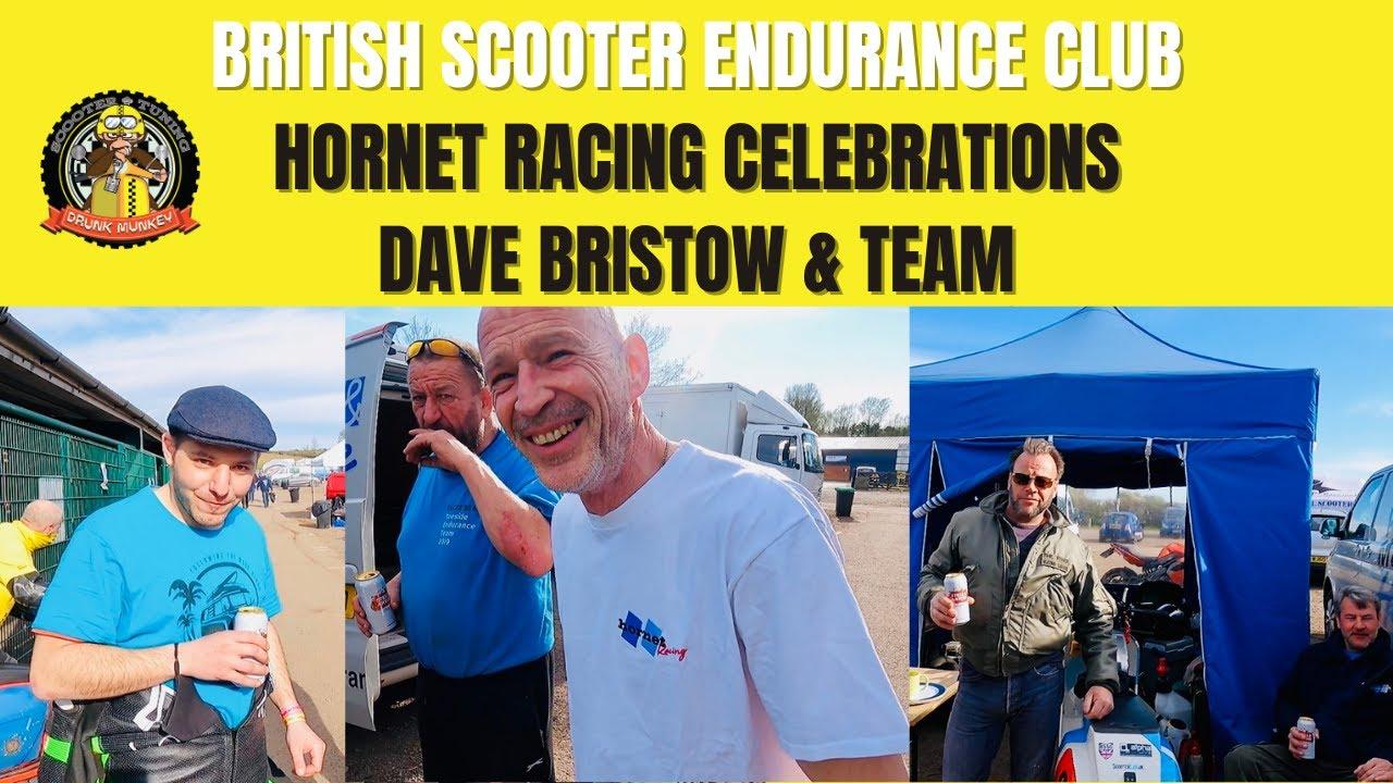 BSEC Hornet Racing Celebrations - Dave Bristow & Team - British Scooter Endurance Club