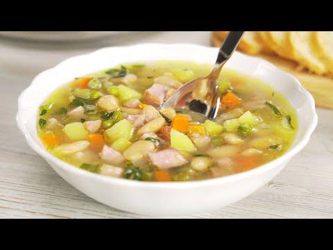 Вкусный обед за 30 минут. Фасолевый суп с ветчиной. Рецепт от Всегда Вкусно!