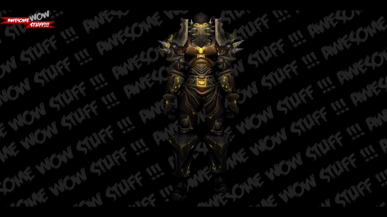 WoW Tier 6 - Warrior (Orc) HD - YouTube